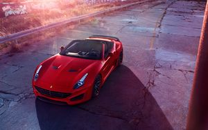 Preview wallpaper ferrari, sports car, convertible, red