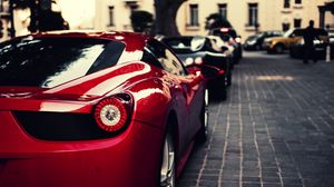 Preview wallpaper ferrari, veyron, bugatti, black, italy, red