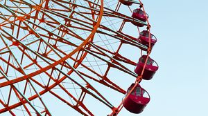 Preview wallpaper ferris wheel, sky, minimalism, construction