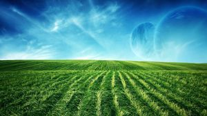 Preview wallpaper fields, vegetation, planets, greens