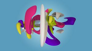 Preview wallpaper figure, multi-colored, form