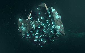Preview wallpaper shape, neon, shapes, symbols, glow, polyhedron, 3d
