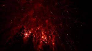 Preview wallpaper fireworks, night, sky, sparks