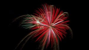Preview wallpaper fireworks, salute, sparks, red