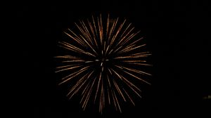 Preview wallpaper fireworks, sparks, black, night, holiday