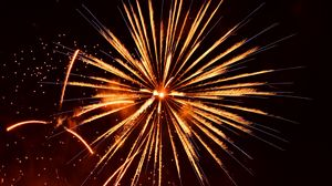 Preview wallpaper fireworks, sparks, glow, holiday