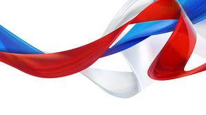 Preview wallpaper flag, russia, symbols, tape, tricolor