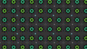 Preview wallpaper flowers, art, patterns, green, black