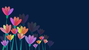 Preview wallpaper flowers, vector, colorful