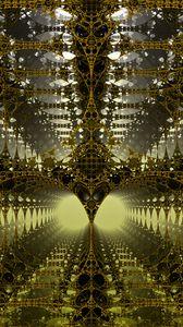 Preview wallpaper fractal, 3d, tangled, construction, volume