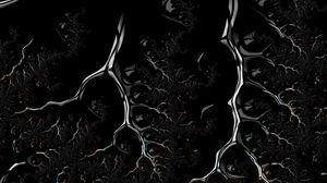 Preview wallpaper fractal, black, branched, dark, creeping