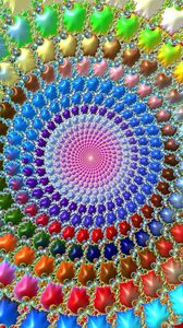 Preview wallpaper fractal, circles, patterns, colorful
