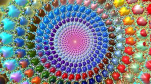Preview wallpaper fractal, circles, patterns, colorful