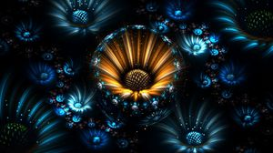 Preview wallpaper fractal, flowers, abstract
