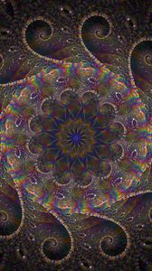 Preview wallpaper fractal, kaleidoscope, iridescent, pattern, abstraction, multicolored