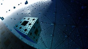 Preview wallpaper fractal, menger sponge, flight