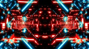 Preview wallpaper fractal, neon, bright, abstraction