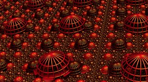 Preview wallpaper fractal, relief, volume, 3d, red