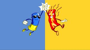 Preview wallpaper friendship, clap, blue, yellow