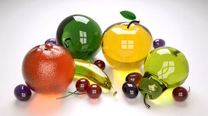 Preview wallpaper fruit, glass, colored, collection