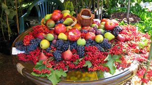 Preview wallpaper fruits, berries, table, a lot of