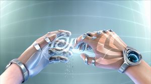 Preview wallpaper futurism, design, hands, cyborg, watches