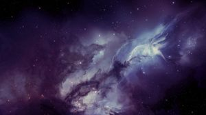 Preview wallpaper galaxy, nebula, blurring, stars