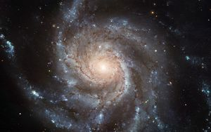 Preview wallpaper galaxy, pinwheel galaxy, spiral, messier, stars, space, astronomy, shine