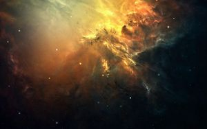 Preview wallpaper galaxy, space, light, stars, nebula