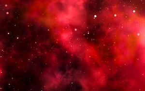 Preview wallpaper galaxy, space, red, shine, universe