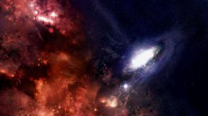 Preview wallpaper galaxy, stars, black holes, universe