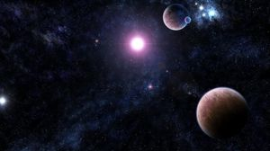 Preview wallpaper galaxy, stars, universe, light, planet