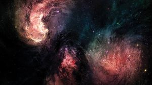 Preview wallpaper galaxy, universe, starry sky, stars, colorful, shine, bright