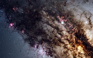 Preview wallpaper galaxy, universe, stars, glitter, space