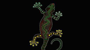 Preview wallpaper gecko, lizard, art, point