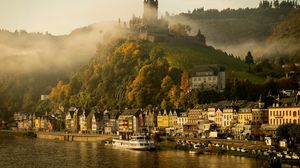 Preview wallpaper germany, cochem, mosel, river, castle