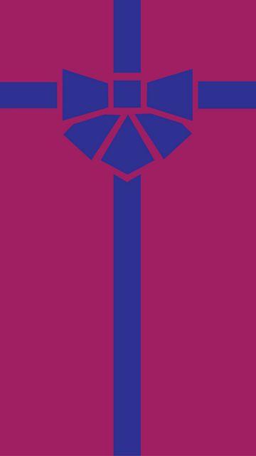 360x640 Wallpaper gift, box, ribbon, bow, minimalism, vector