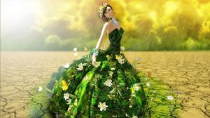 Preview wallpaper girl, dress, face