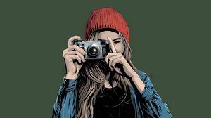 Preview wallpaper girl, photographer, art