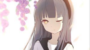 Preview wallpaper girl, schoolgirl, anime, art