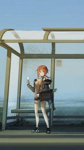 Preview wallpaper girl, stop, anime