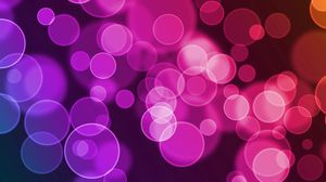 Preview wallpaper glare, circles, colorful, bright, background
