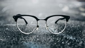 Preview wallpaper glasses, lenses, glass, blur, glare