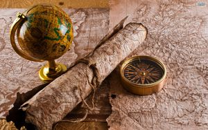 Preview wallpaper globe, map, table, travel
