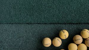 Preview wallpaper golf, balls, lawn, green, yellow