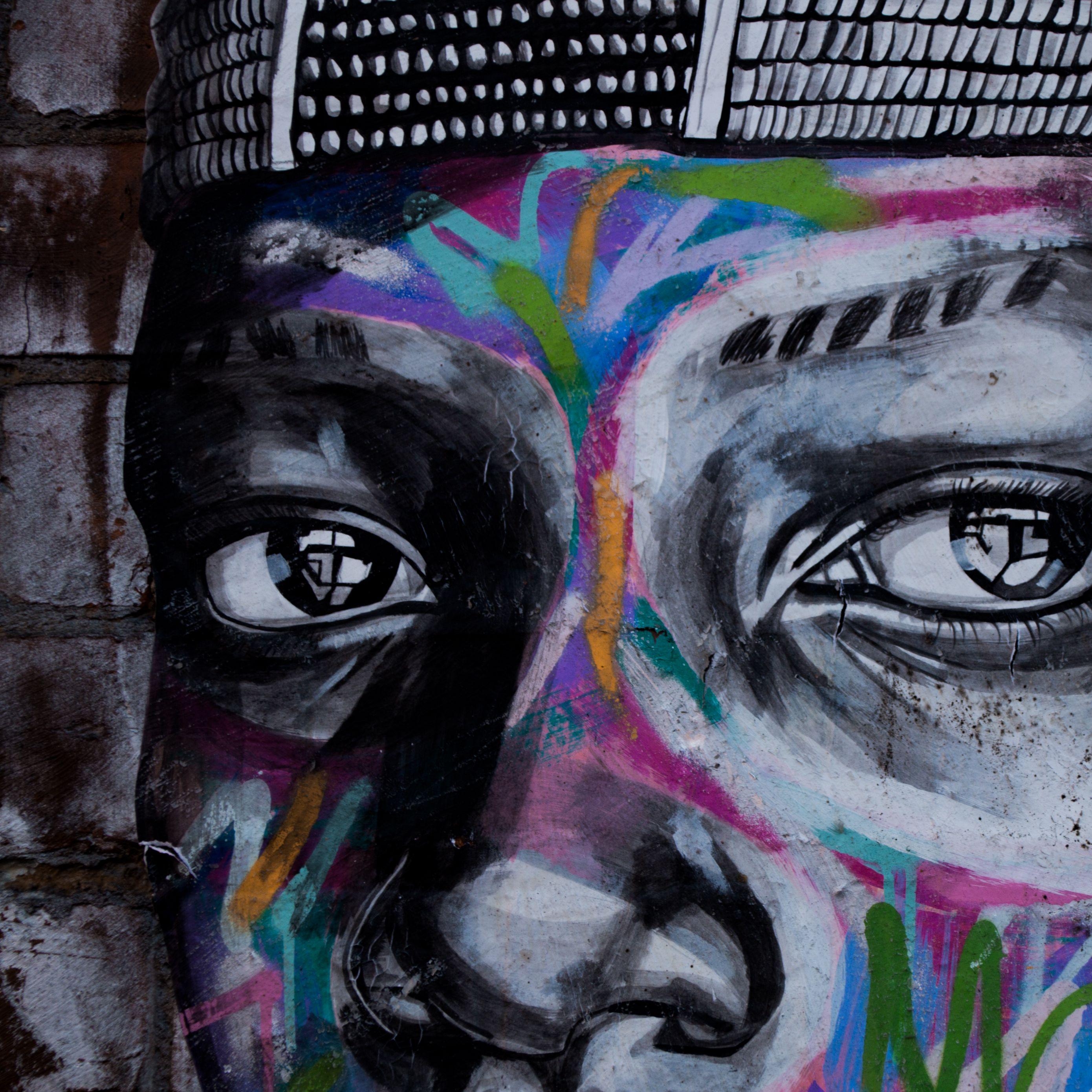 2780x2780 Wallpaper graffiti, eyes, art, street art