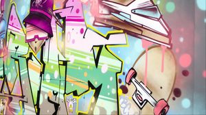 Preview wallpaper graffiti, wall, art