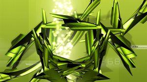 Preview wallpaper green, iron, light, figure
