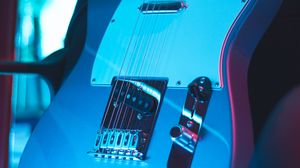 Preview wallpaper guitar, electronic, musical instrument, neon