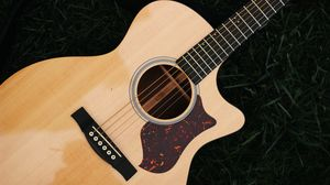 Preview wallpaper guitar, strings, musical instrument, wooden